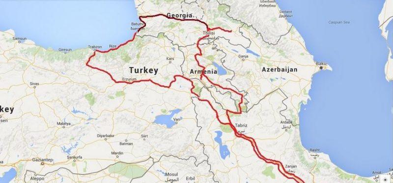 سفر زمینی به گرجستان