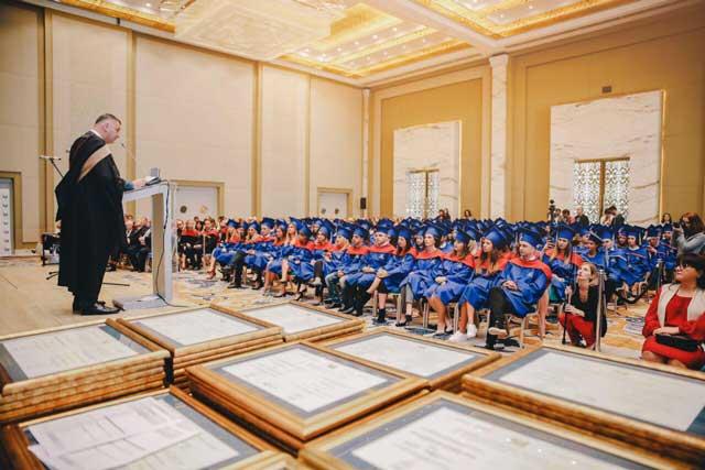 جشن پایان دوره دانشگاه قفقاز گرجستان