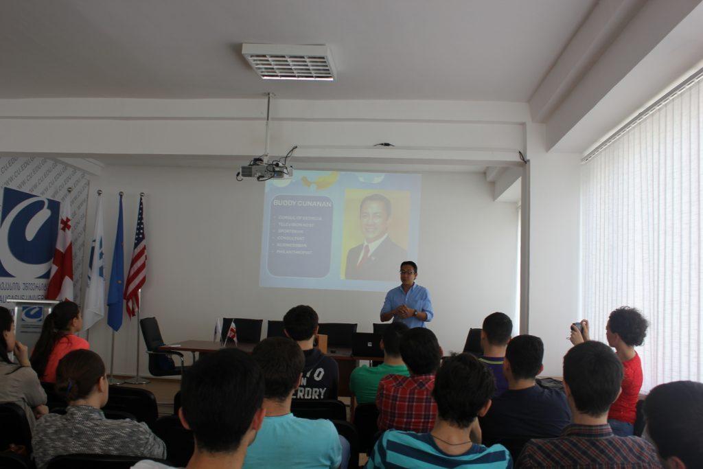 کلاس درس دانشگاه قفقاز گرجستان