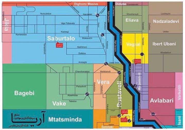 نقشه کاربری شهر تفلیس